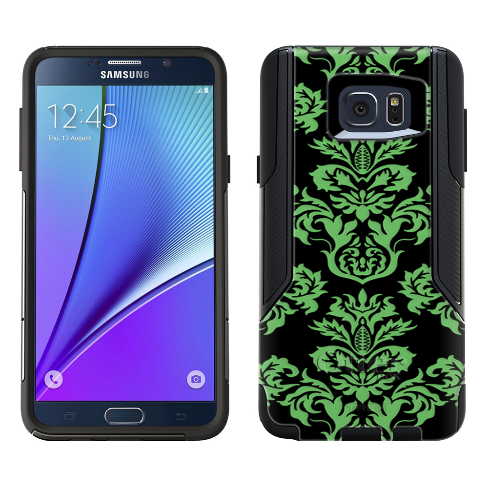 OtterBox Commuter Samsung Galaxy Note 5 Case - Damask Floral Green on Black OtterBox Case