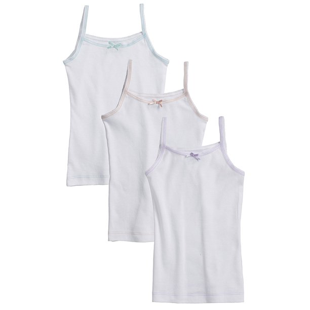 Sportoli - Sportoli Girls and Toddlers Underwear Ultra Soft 100% Cotton  Pack of 3 Tagless White Cami Vest Undershirts - Walmart.com - Walmart.com