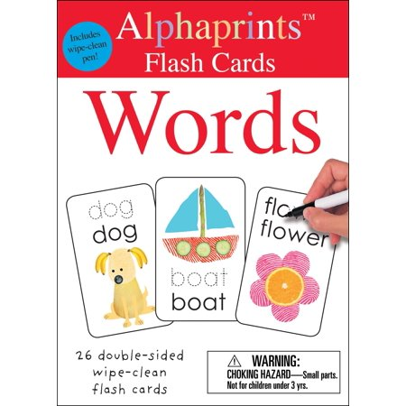 Alphaprints: Wipe Clean Flash Cards Words - Halloween Flashcards With Words