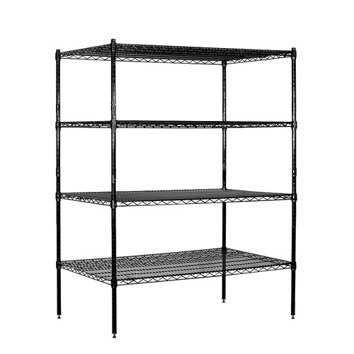 Salsbury Industries 9634S-CHR Wire Shelving - Stationary - 36 Inches Wide - 74 Inches High - 24 Inches Deep - Chrome