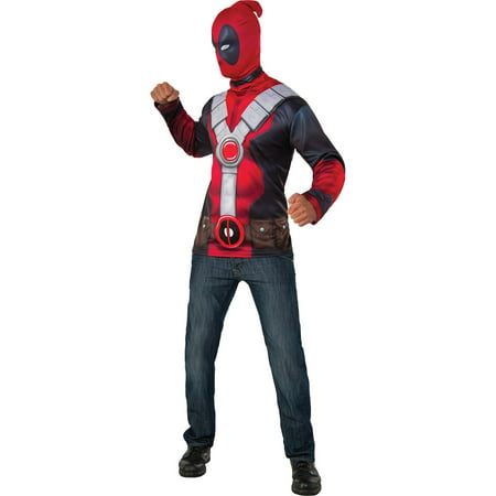 Mens Classic Deadpool Halloween Costume Top (Funny Halloween Costumes Men)