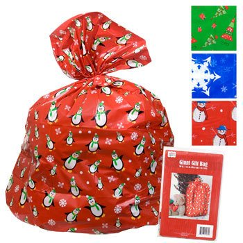 2 giant christmas gift bag 36x44 wtie gift card set of 2