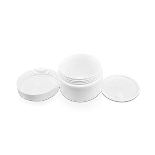 Houseables White Jar Lotion Container 2 Oz 59 Ml Gram Capacity 12