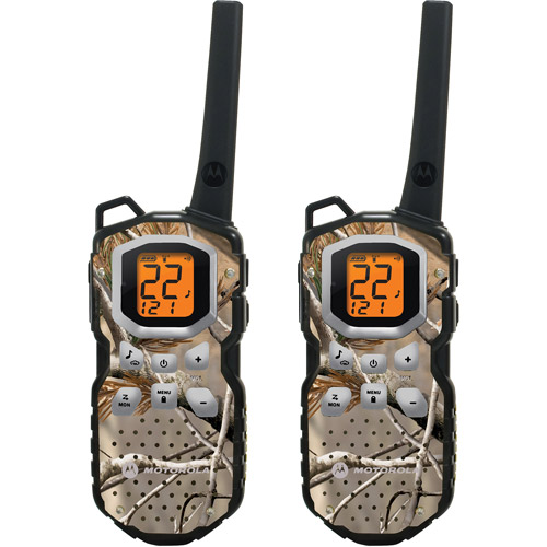 Motorola MS355R - 35 Mile Range Talkabout 2-Way Radios CAMO Series, PAIR