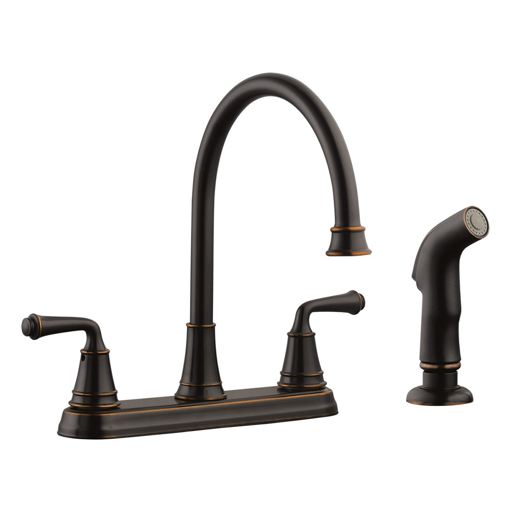Design House 524736 Eden 2 Handle Standard Kitchen Faucet With Side
