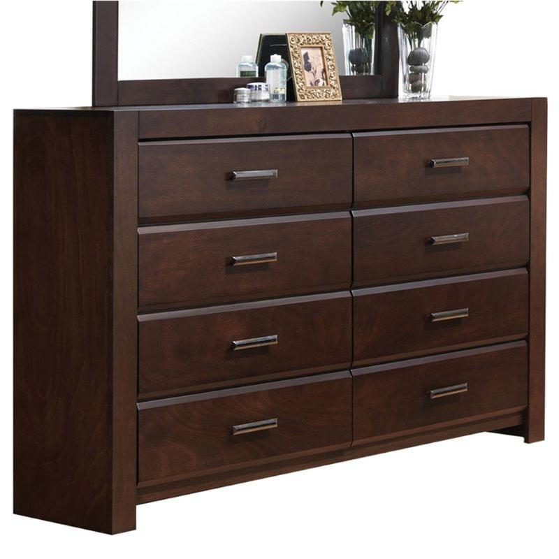 Acme Furniture Oberreit Walnut Dresser with Eight Drawers
