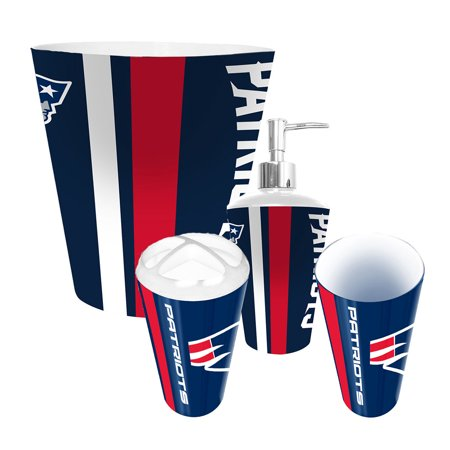 New england patriots nfl complete bathroom accessories 4pc for Bathroom accessories at walmart