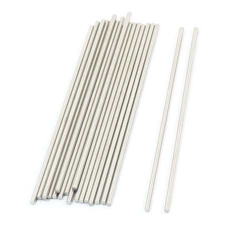 20 Pcs Rc Toy Car Frame Round Stainless Steel Straight Rods Axles 3Mmx140mm