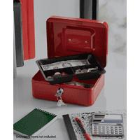 Pen+Gear 8 Inch Red Cash Box