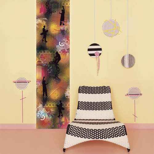 Brewster Home Fashions Euro Stripe Jumping Jack Flash Wall Mural