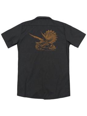Jurassic Park Tri Mount (Back Print) Mens Work Shirt