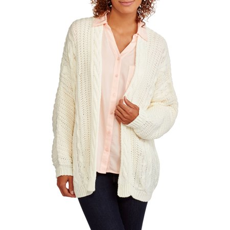 Juniors Super Chunky Cable Knit Sweater Cardigan Walmart