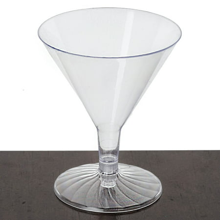 Efavormart 60 Pcs - Clear Disposable Plastic Martini Glass for Wedding Birthday Party Banquet Events Cocktail Cups