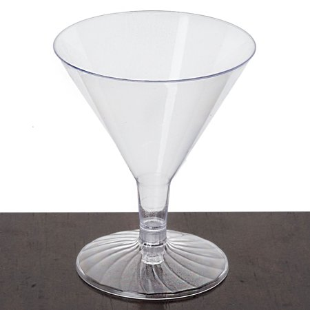 Efavormart 60 Pcs - Clear Disposable Plastic Martini Glass for Wedding Birthday Party Banquet Events Cocktail Cups](Orange Martini Glasses)