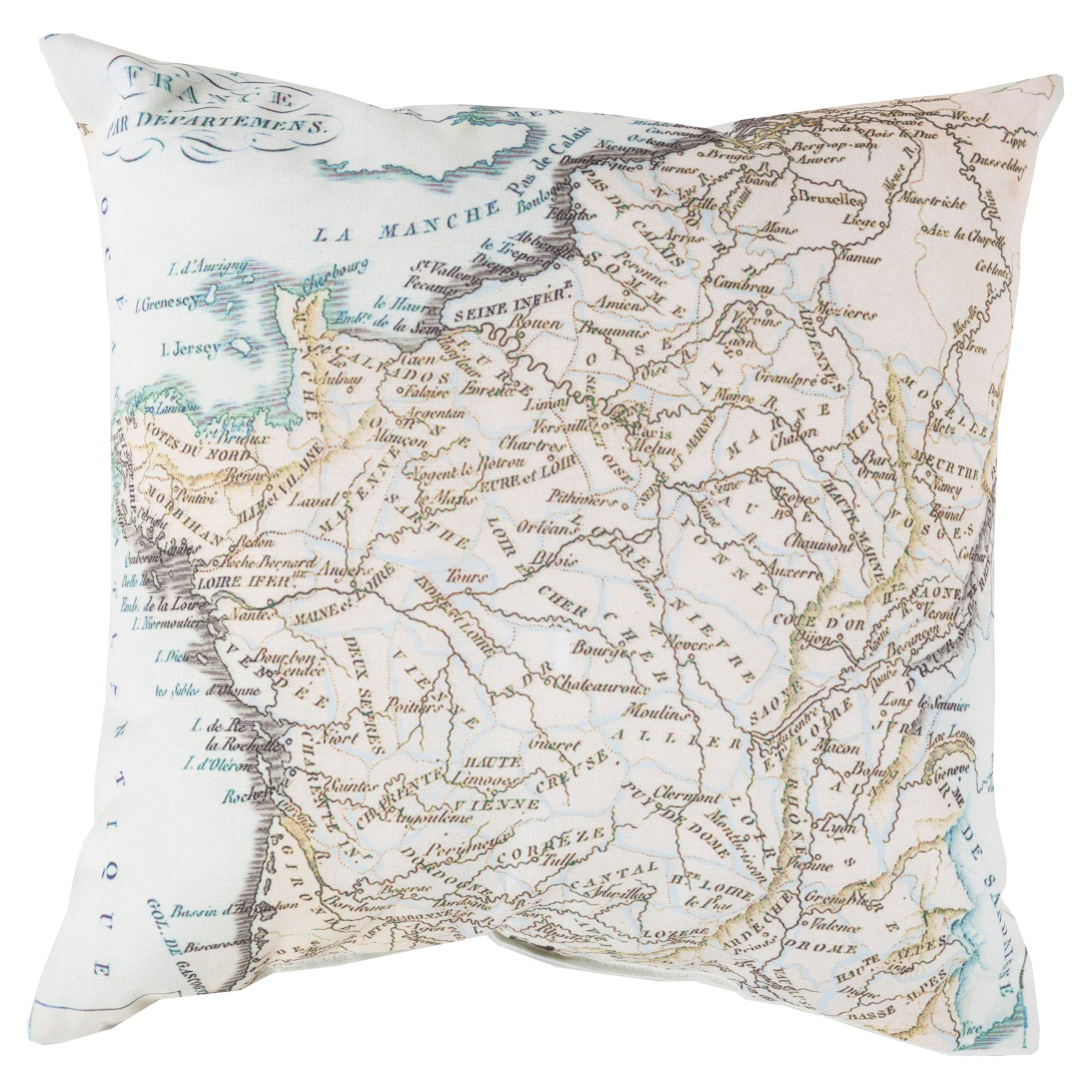 Surya Mapped in Magnificence Indoor/Outdoor Pillow