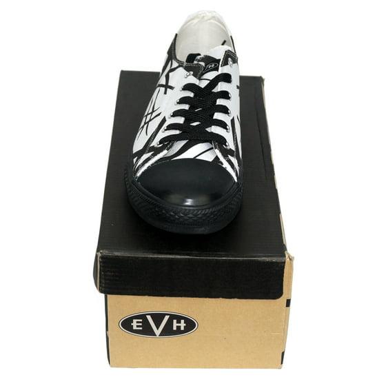 5efb85b1cd443a FEAMERCH - Van Halen EVH Black Striped White Low Top Sneaker Shoes ...