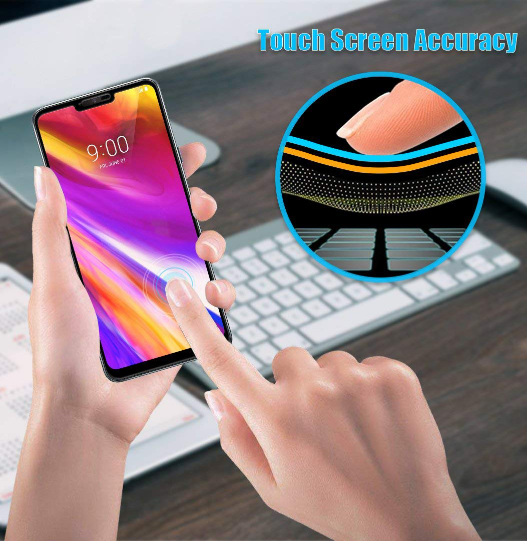 G710 Crack Saver for LG G7 ThinQ Phone G7 Plus LG G7 ThinQ Tempered Glass 2X Nakedcellphone 9H Hard Clear Screen Protector Guard G7+ Twin Pack