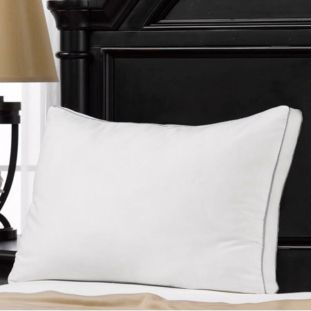 MEMORY FIBER Pillow 100% Cotton Luxurious Mesh Gusseted Shell All Sleeper - 100% Latex Pillow