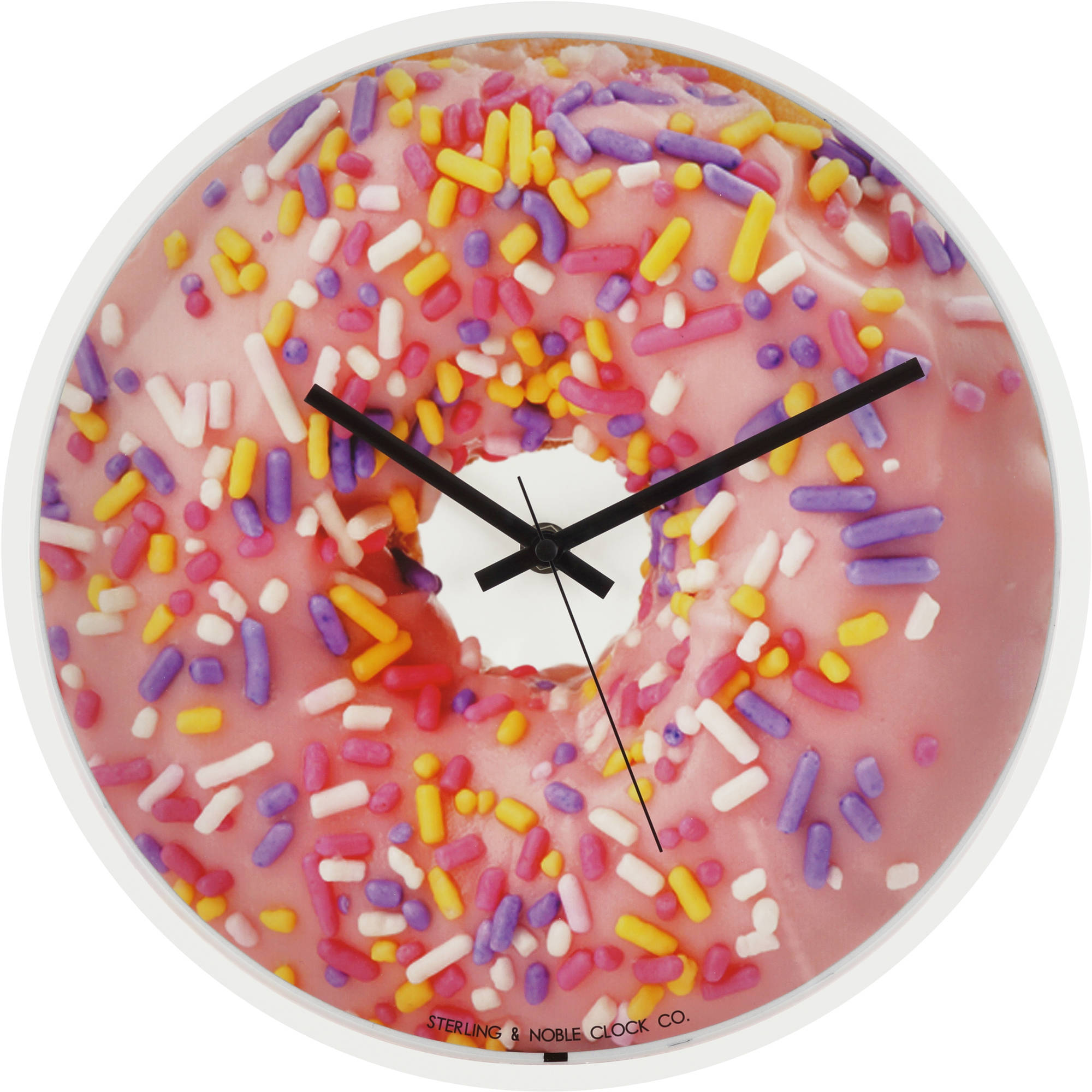 "Mainstays 11.5"" Strawberry Donut Wall Clock"