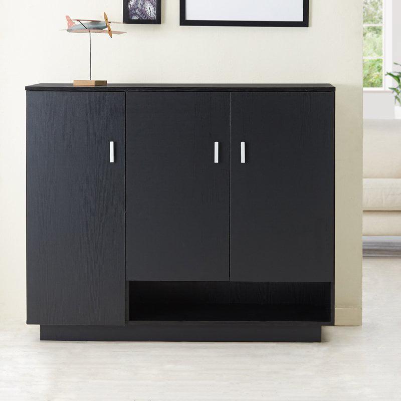 Furniture of America Hindego Dual Storage Shoe Cabinet