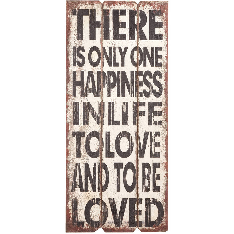 Woodland Imports Motivational Love Textual Art Plaque