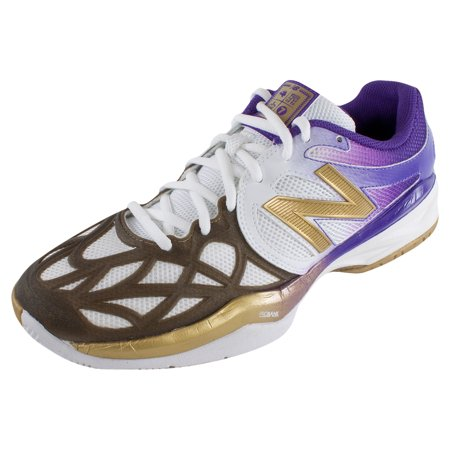 a1e4f1d5ceb8f New Balance - Men`s 996 Tennis Shoes White Gold Purprle - Walmart.com