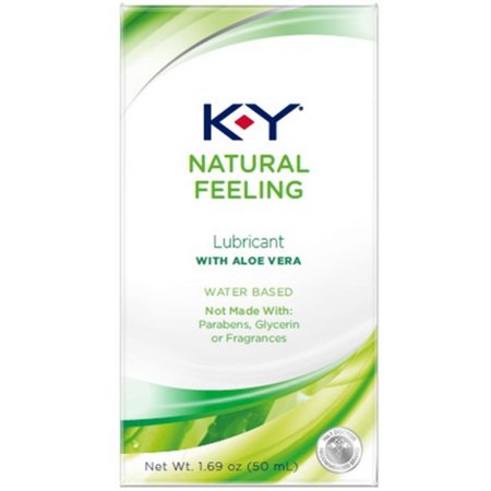 2 Pack - K-Y Natural Feeling Personal Lubricant With Aloe Vera, Water Based & Free From Harmful Chemicals 1.69 oz