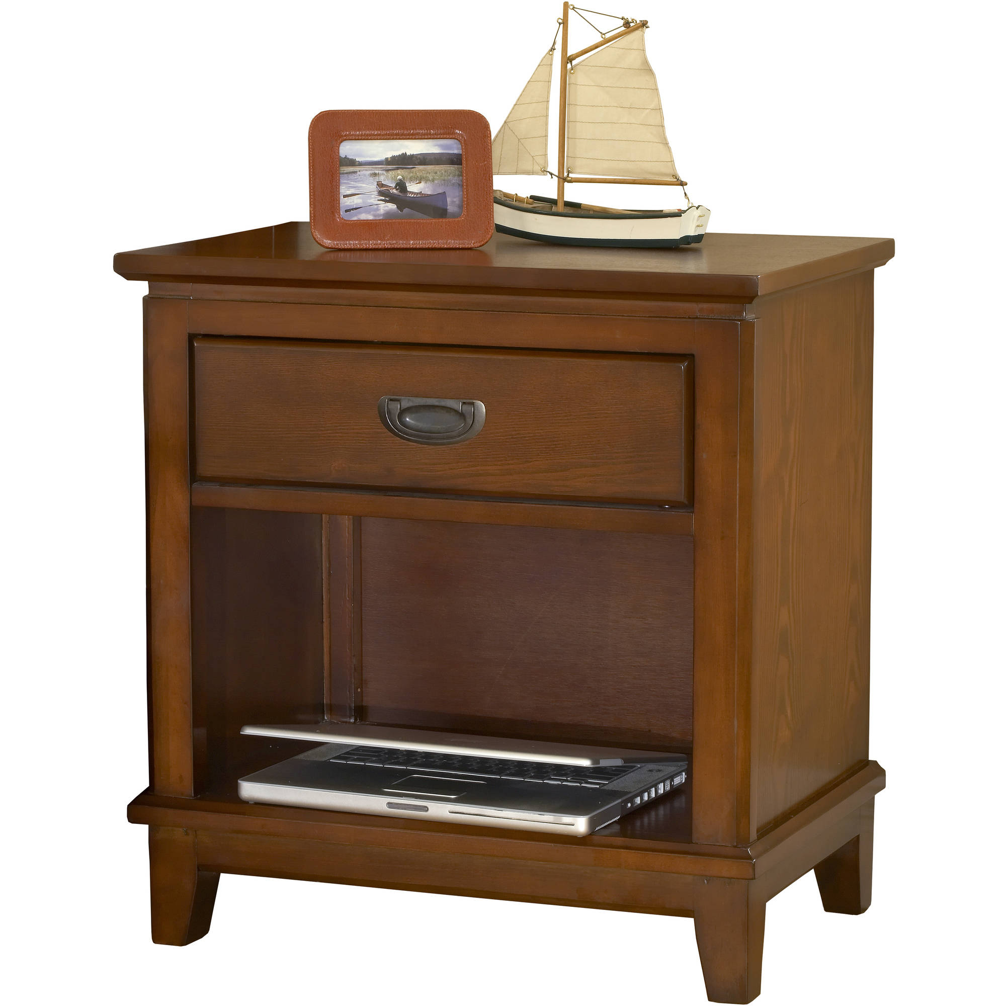 Cambridge 98900NS-HN 1-Drawer in Honey Oak Childrens Nightstands Furniture,
