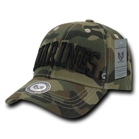 5520245cb1a Rapid Dominance US Marines Logo 3D Text Woodland Camo Camouflage Military  Baseball Ball Caps Hats - Walmart.com