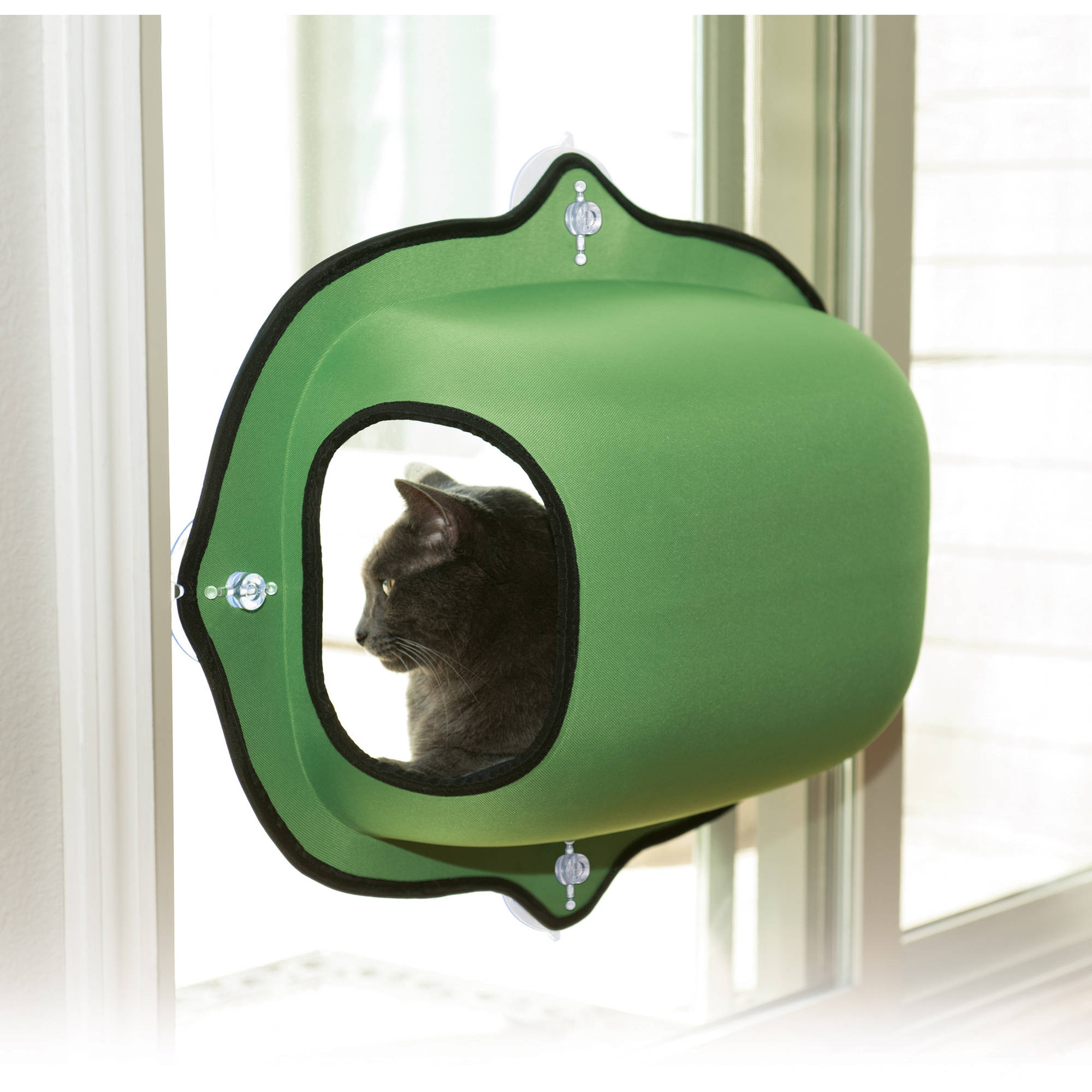 K&H Pet Products EZ Mount Window Cat Bed, Small, Green