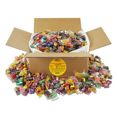 Office Snax Soft Chewy Assorted Candy Mix - Assorted - Resealable Container - 10 Lb - 1 Box (00086)