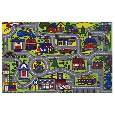 Boy Rag - Fun Rugs Driving Time Area Rug (4 ft. 8 in. L x 3 ft. 2 in. W (5 lbs.))