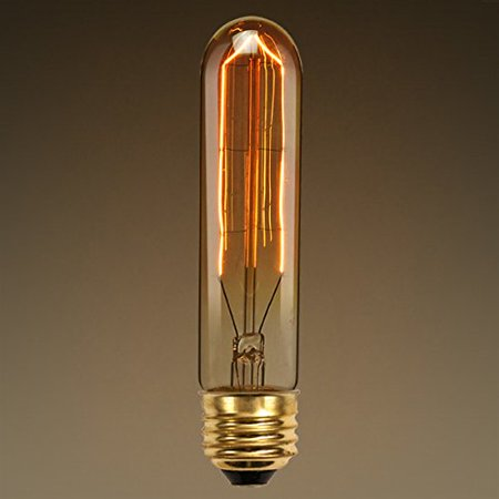 20W Antique Light Bulb T10 Tubular Style Medium Base Hairpin Filament Clear By (Plt Cylinder)