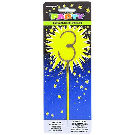 Number Shaped Sparkler - Party City Sparklers