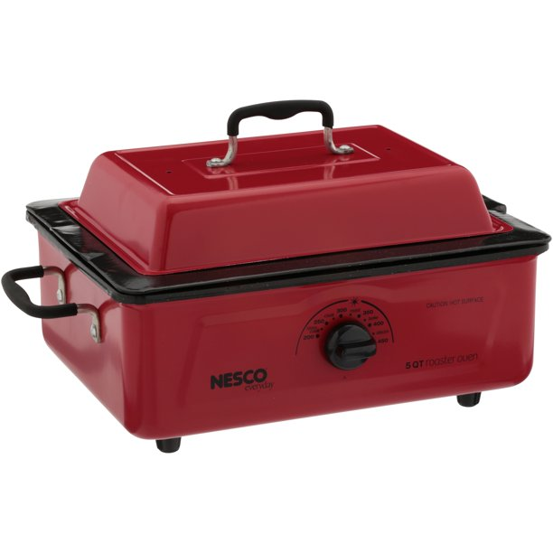 Nesco 4815-12 5-Qt. Red Roaster Porcelain Cookwell