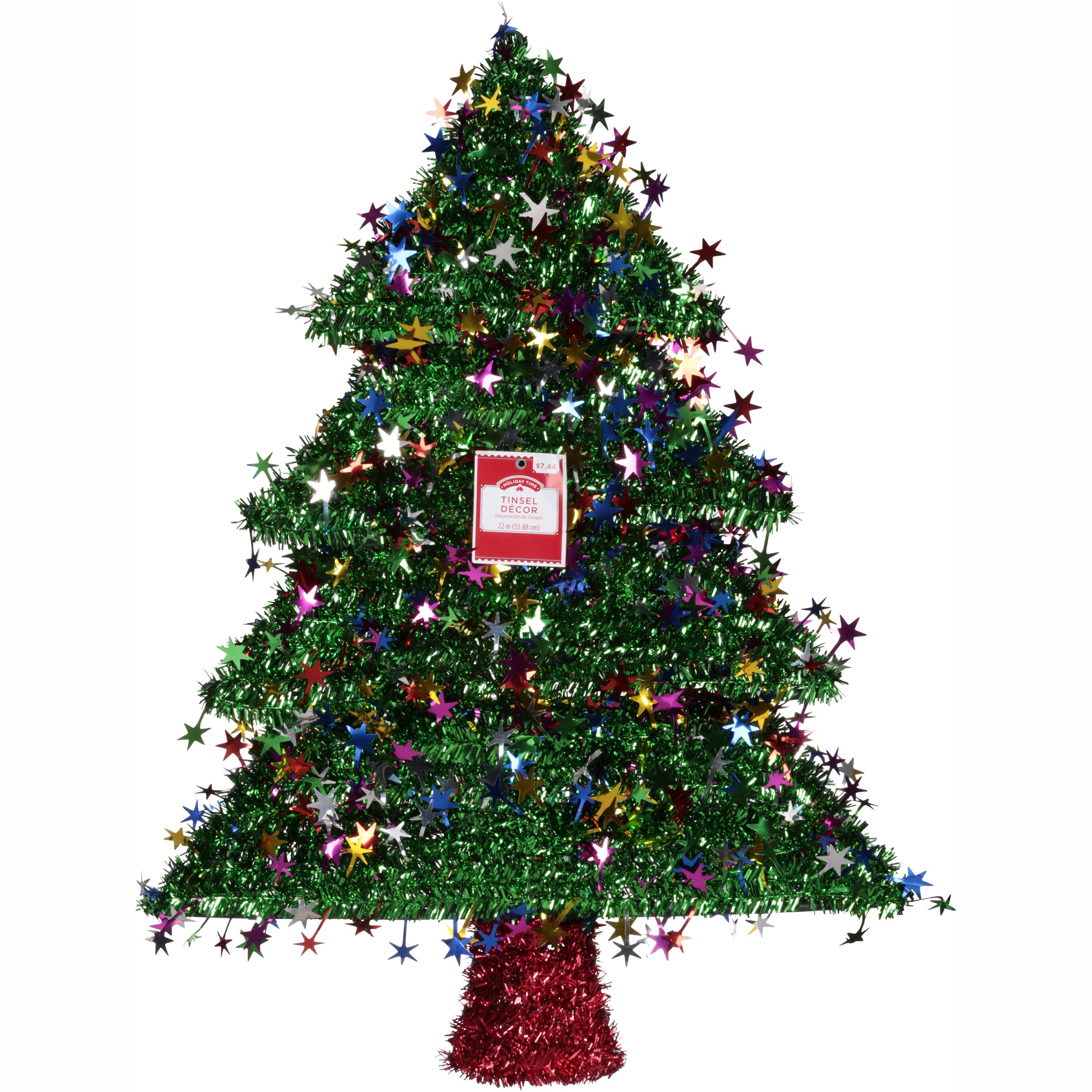 Holiday Time Tree Tinsel Décor - Walmart.com