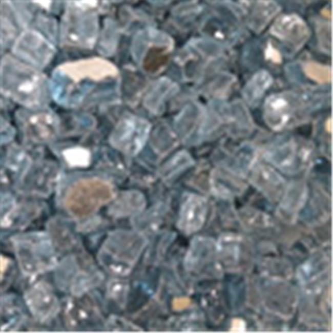 American Fireglass AF-PBR12-10-J 1/2'' Fireglass Gems - Pacific Blue Reflective
