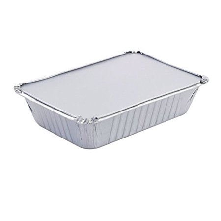 Takeout Pans - Disposable Aluminum Foil Take-out Containers with Lids, Standard Size (Pack of 10)](Takeout Box)