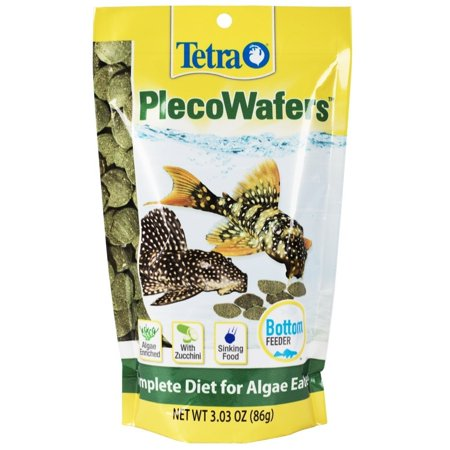 (2 Pack) Tetra TetraVeggie Algae PlecoWafers Fish Food for Algae Eaters, 3.03 (Tropical Sinking Algae Wafers)