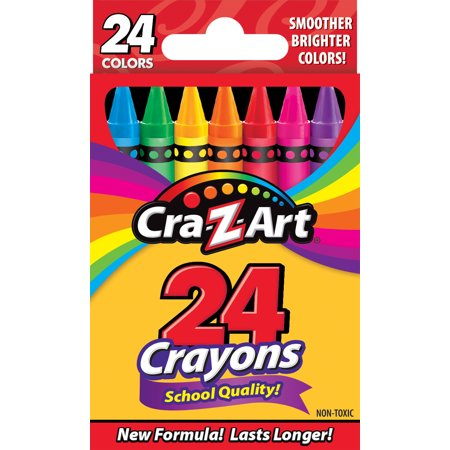 Crayon Assortment - Cra-Z-Art 24 Count School Quality Crayons