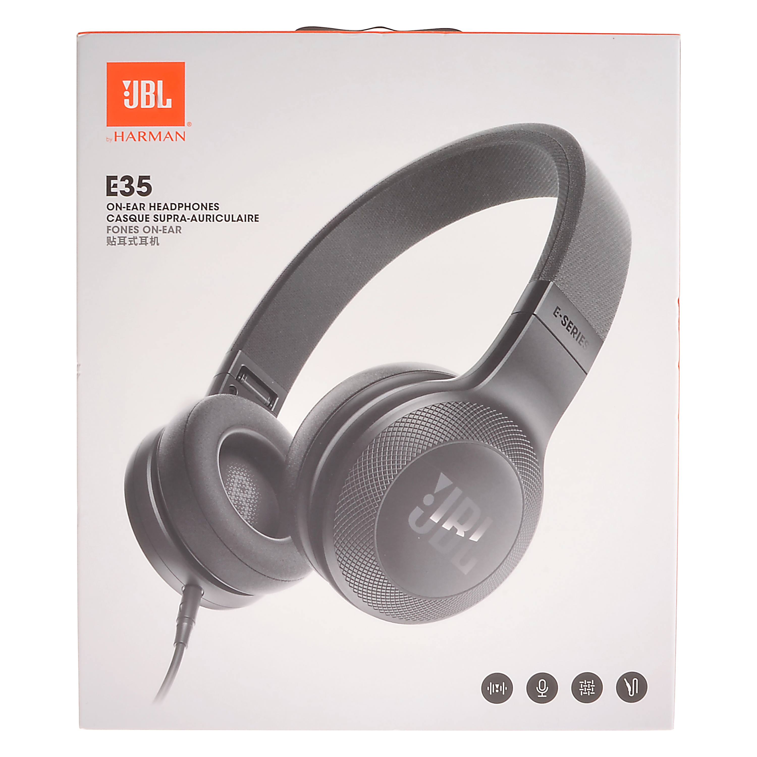 JBL E35 On-Ear Headphones, Black