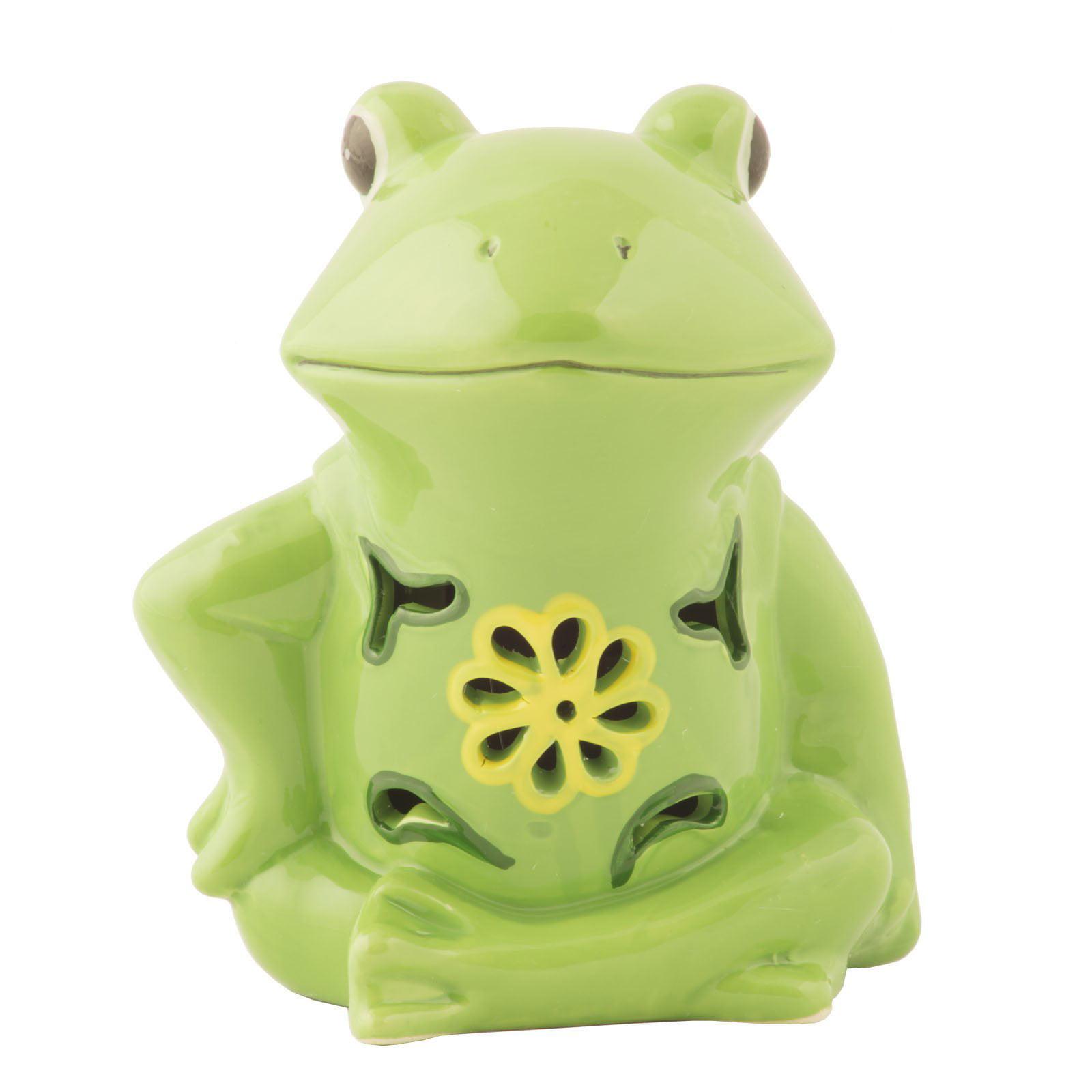Solar Ceramic Frog Light