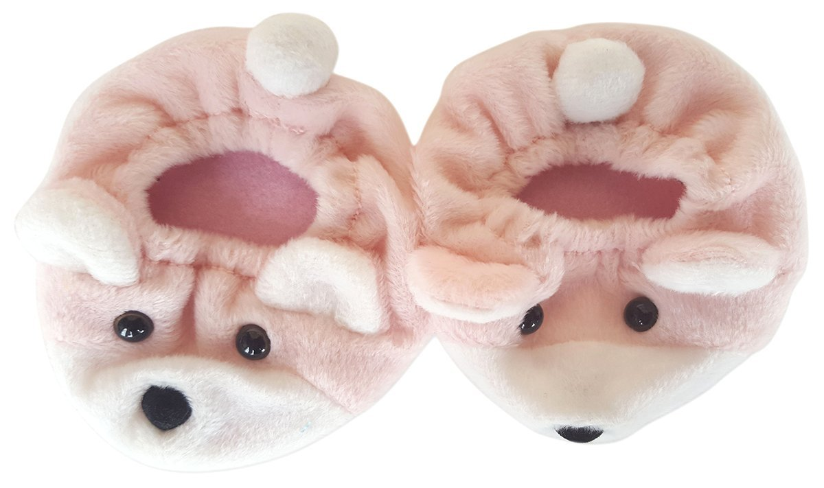 """Pink Bear Slippers Fits Most 14"""" 18"""" Build-a-bear, Vermont Teddy Bears, and Make... by Animaland"""