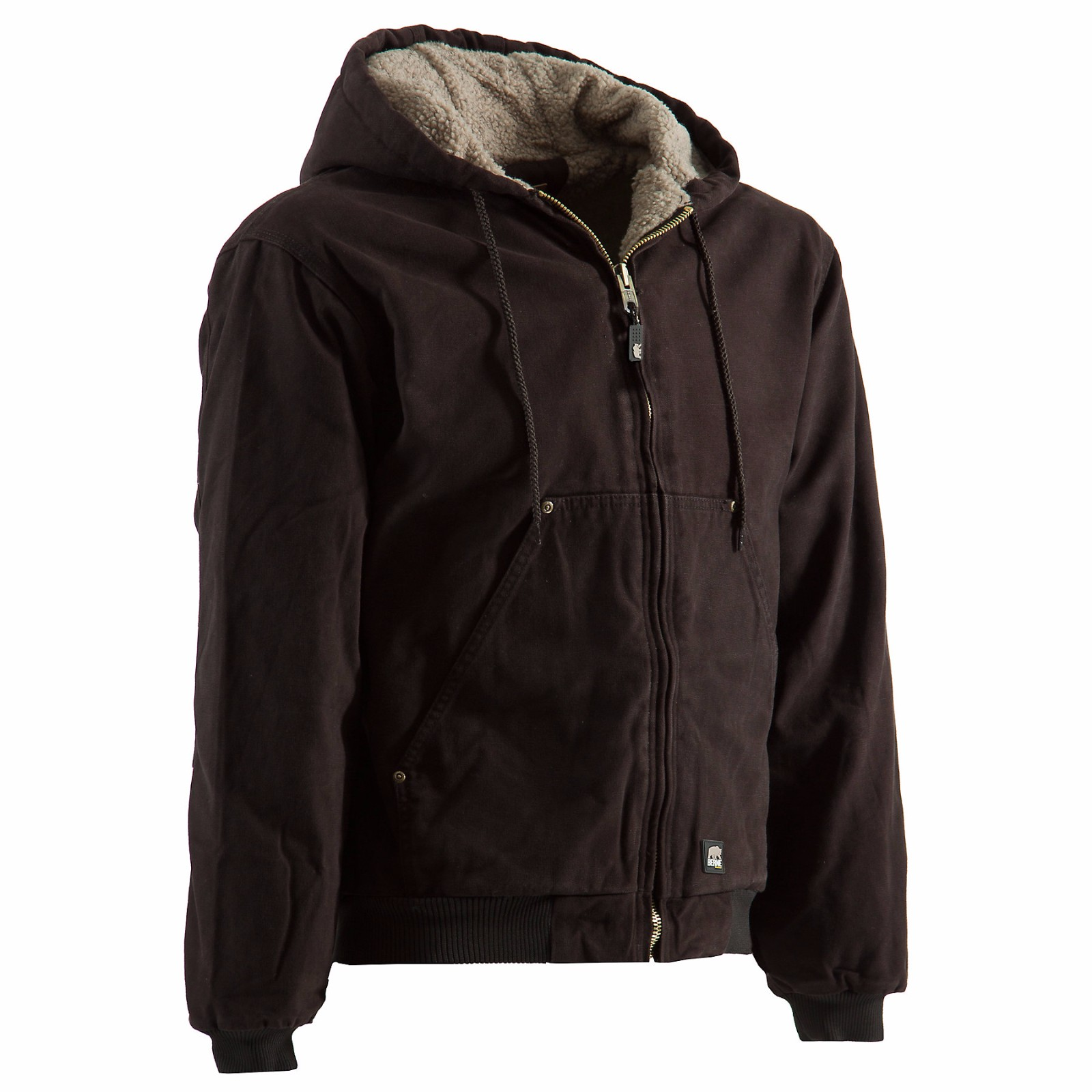 Berne Apparel High Country Hooded Jacket - Sherpa Lined S...