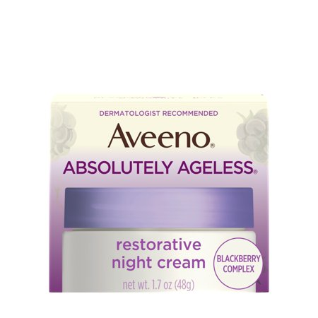 Aveeno Absolutely Ageless Night Cream with Blackberry Complex, Anti-Aging, 3.5 fl oz Rejuvenate Anti Aging Cream