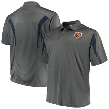 Men's Majestic Charcoal Chicago Bears Big & Tall Pieced (Polo Store Chicago)
