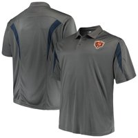 Men's Majestic Charcoal Chicago Bears Big & Tall Pieced Polo
