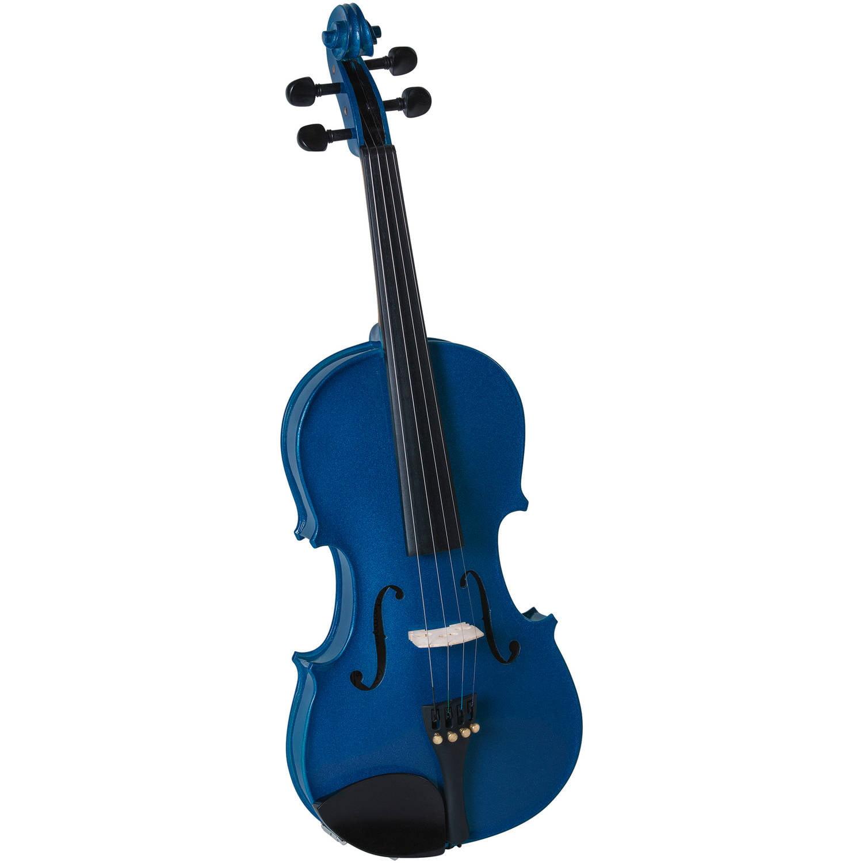 Cremona SV-130 Premier Novice Violin Outfit, Sparkling Blue, 4 4 Size by Generic