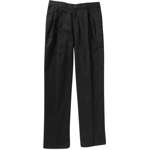 George Big Men's Wrinkle Resistant Pleated 100% Cotton Twill Pant with Scotchgard