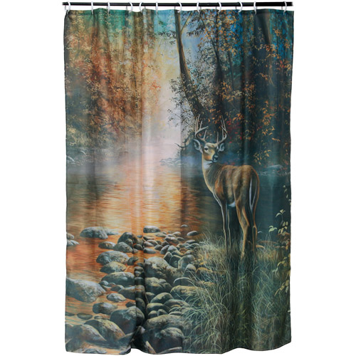 River's Edge Products Deer Shower Curtain by River's Edge Products